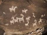 Historic Ute Indian Petroglyphs in Arches National Park Reproduction photographique par Scott Warren