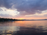 Sunset over the Water at Sebago Lake Reproduction photographique par Skip Brown