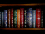 Books Line a Shelf in a Library in Clifton, Virginia Photographic Print by O. Louis Mazzatenta
