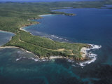Aerial View of the East End of Vieques Island, Puerto Rico Reproduction photographique par Scott Warren