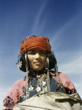 Portrait of a Nomadic North African Woman Photographic Print by Maynard Owen Williams