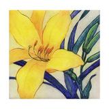 Yellow Lily Botanical Arte