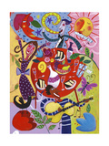 Abstract Party Scene Posters