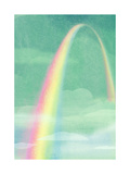 Rainbow in Bright Sky Poster