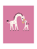 Giraffe Family Prints
