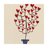 Heart Tree in Pot Posters