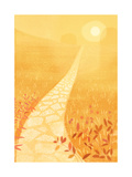Golden Path in Sunlight Posters