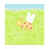 Ladybug over Grass Print