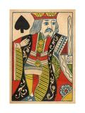 King of Spades Card Arte