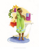 Bath Time Giggles (Boy) Prints by Sylvia Walker