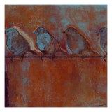 Row of Sparrows I Poster par Norman Wyatt Jr.