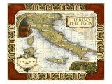 Wine Map of Italy ポスター