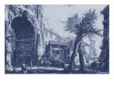 Antique Blue View II Plakat af Giovanni Battista Piranesi