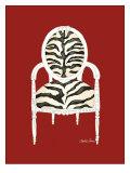 Zebra Chair on Red Plakater af Chariklia Zarris