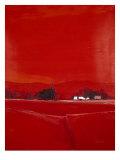 Paysage dans le Rouge Exklusivt gicléetryck av  Demagny