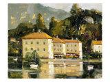 Grand Hotel, Lake Como Premium Giclée-tryk af Ted Goerschner