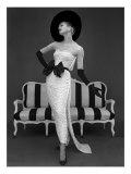Model in John Cavanagh's Strapless Evening Gown, Spring 1957 Reproduction procédé giclée par John French