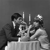 A Couple Dining, 1960s Lámina giclée por John French