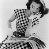 Helen Bunney in a Dress by Blanes, 1957 Giclée-tryk af John French