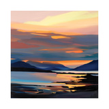RED ON THE CUILLIN Reproduction pour collectionneur par Pam Carter