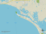 Political Map of Fort Myers Beach, FL Kunst