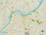 Political Map of Louisville, KY Trykk på strukket lerret