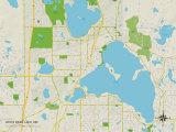 Political Map of White Bear Lake, MN Trykk på strukket lerret
