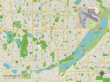 Political Map of Bloomington, MN Trykk på strukket lerret
