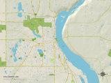Political Map of Stillwater, MN Trykk på strukket lerret