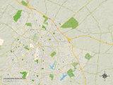 Political Map of Lexington-Fayette, KY Posters