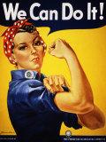 Nós podemos fazê-lo! (Rosie, a Rebitadeira) Pôsteres por J. Howard Miller