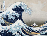 The Great Wave at Kanagawa (from 36 views of Mount Fuji), c.1829 Print by Katsushika Hokusai