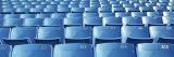 Empty Blue Seats in a Stadium, Soldier Field, Chicago, Illinois, USA Fotografisk trykk