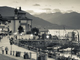 Piedmont, Lake Maggiore, Cannobio, Piazza Vittorio Emanuele Iii, Italy Photographic Print by Walter Bibikow