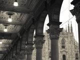 Lombardy, Milan, Piazza Del Duomo, Duomo, Cathedral, Dawn, Italy Fotografie-Druck von Walter Bibikow