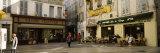 Group of People at a Town Square, Rue De La Republique, Avignon, Provence-Alpes-Cote D'Azur, France Stampa fotografica