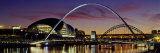 Bridges across a River, Tyne River, Newcastle-Upon-Tyne, Tyne and Wear, England Fotografisk trykk av Panoramic Images,