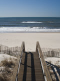 New York, Long Island, the Hamptons, Westhampton Beach, Beach View from Beach Stairs, USA Reproduction photographique par Walter Bibikow