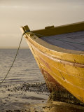 Fishing Boat on the Beach at Low Tide, Ilha Do Mozambique Fotografisk tryk af Julian Love