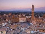 Palazzo Publico and Piazza Del Campo, Siena, Tuscany, Italy Photographic Print by Doug Pearson
