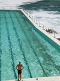 New South Wales, Sydney, Bondi Beach, Bondi Icebergs Swimming Club Pool, Australia Premium fotografisk trykk av Walter Bibikow