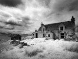 Infrared Image of a Derelict Farmhouse Near Arivruach, Isle of Lewis, Hebrides, Scotland, UK Fotografie-Druck von Nadia Isakova