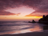Sunset over Surfers, Biarritz, Pyrenees Atlantiques, Aquitaine, France Fotografisk trykk av Doug Pearson