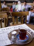 Drinking Tea in the Famous Al Nawfara Cafe in Old Damascus, Syria Fotografie-Druck von Julian Love