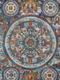Mandala on a Tibetan Thangka, Bhaktapur, Nepal, Asia Photographic Print by  Godong