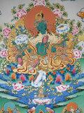 Painting of Green Tara, Buddhist Symbol of Prosperity, Kopan Monastery, Kathmandu, Nepal, Asia Photographic Print by  Godong