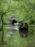Narrow Boat Cruising the Llangollen Canal, England, United Kingdom, Europe Photographic Print by Richard Maschmeyer