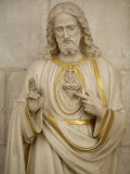 Jesus's Sacred Heart, Auxerre, Yonne, Burgundy, France, Europe Premium Photographic Print by  Godong