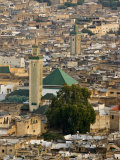 View of City from the Hills Surrounding, Fez, Morocco, North Africa, Africa Reproduction photographique par John Woodworth