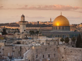 Dome of the Rock and the Western Wall, Jerusalem, Israel, Middle East Reproduction photographique par Michael DeFreitas